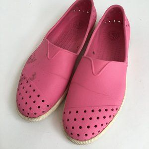 Native Shoes Verona Size 8 1/2 Pink Stained
